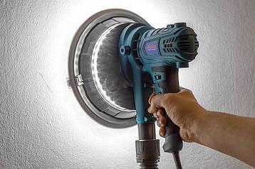 Шлифовальная машина AL-FA ALDWS15 со светодиодной подсветкой и системой пылеудаления для стен