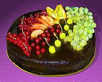 Шоколадный Торт на заказ с фруктами