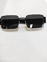 Очки мужские солнцезащитные черные Сонцезахисні поляризаційні стильні чоловічі окуляри в чорному матовому плас