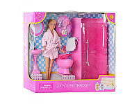 """Кукла """"Defa Lusy"""" ванная комната, аксессуары 8215"""