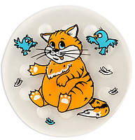 Мини коврик в ванную круглый Кошак