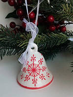 Керамический колокольчик на елку, Германия, Hand-made