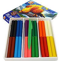 Пластилін восковий 12 кольорів Луч Фантазія