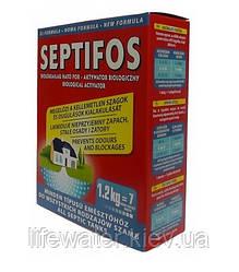 Биоактиватор для септика, биопрепарат для выгребных ям, туалетов Septifos vigor, 1.2 кг