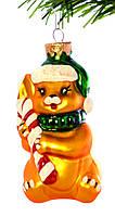 Стеклянная Елочная Игрушка Собачка с конфетой микс