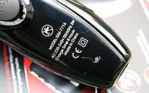 Електробритва Gemei GM 7716 бездротова акумуляторна для бороди Чорна, фото 3