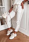 Женский спортивный костюм, турецкая двунить + пайетка, р-р 42-44; 44-46 (белый), фото 4