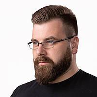 Очки компьютерные IQ Vision CYBORG мужские в брутальной оправе темно-серые (2021)
