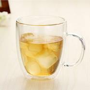 Стеклянная чашка с двойными стенками (350 мл), фото 5