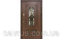 Двері CLASSIC 97 №20-64 полімер дуб темний L (лиштва + ручка)