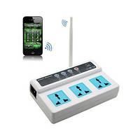 GSM розетка с дистанционным управлением с мобильного телефона на 3 независимых штекера (мод. PA02300)
