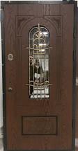 Двері АКЦІЙНІ PRESTIGE 97 №20-57 полімер дуб темний R(лиштва + ручка)