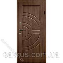 Двері CLASSIC 87 №126 горіх темний R (лиштва + ручка)