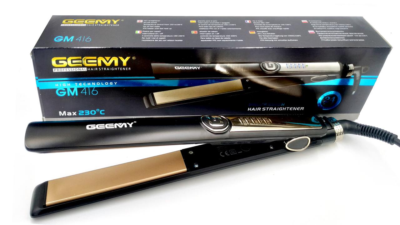 Утюжок випрямляч для волосся Geemy GM 416 Max 230°c 35W з терморегулятором