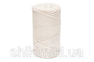 Трикотажный хлопковый шнур Cotton Filled 5 мм, цвет Пломбир