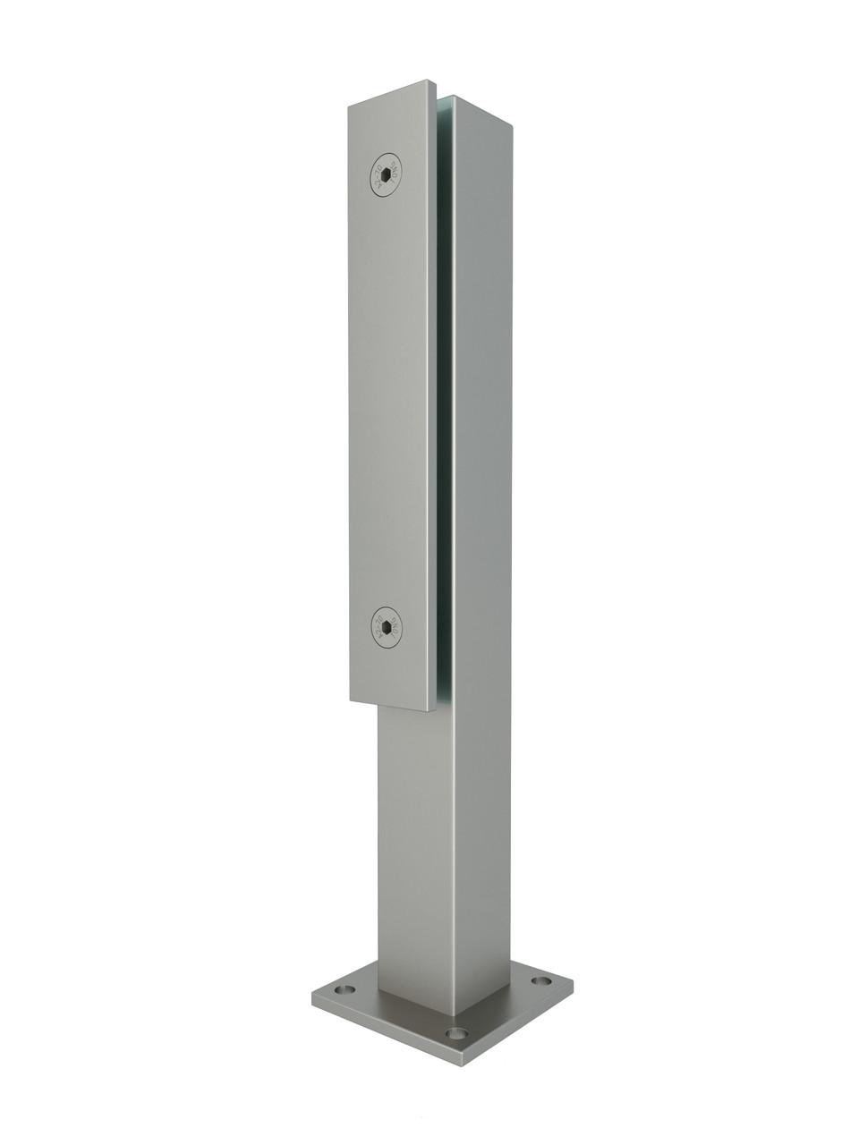 ODF-02-22-01-H360 Стійка для скляних огорож та поручнів з нержавіючої сталі з притискною пластиною, матова