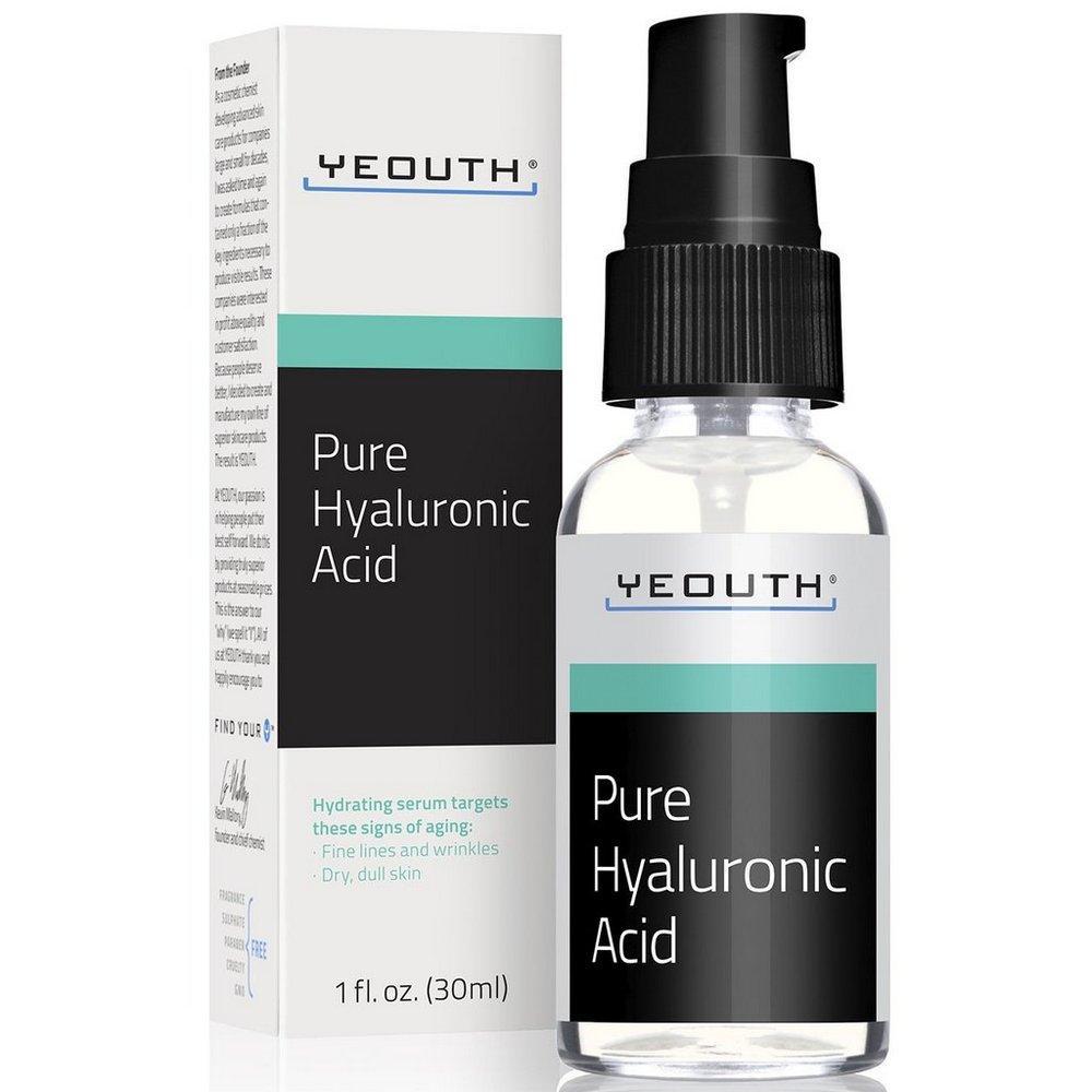 Чистий гіалуронова кислота Yeouth, Pure Hyaluronic Acid, 1 fl oz (30 ml) Розпродаж!! Упаковка пошкоджена!