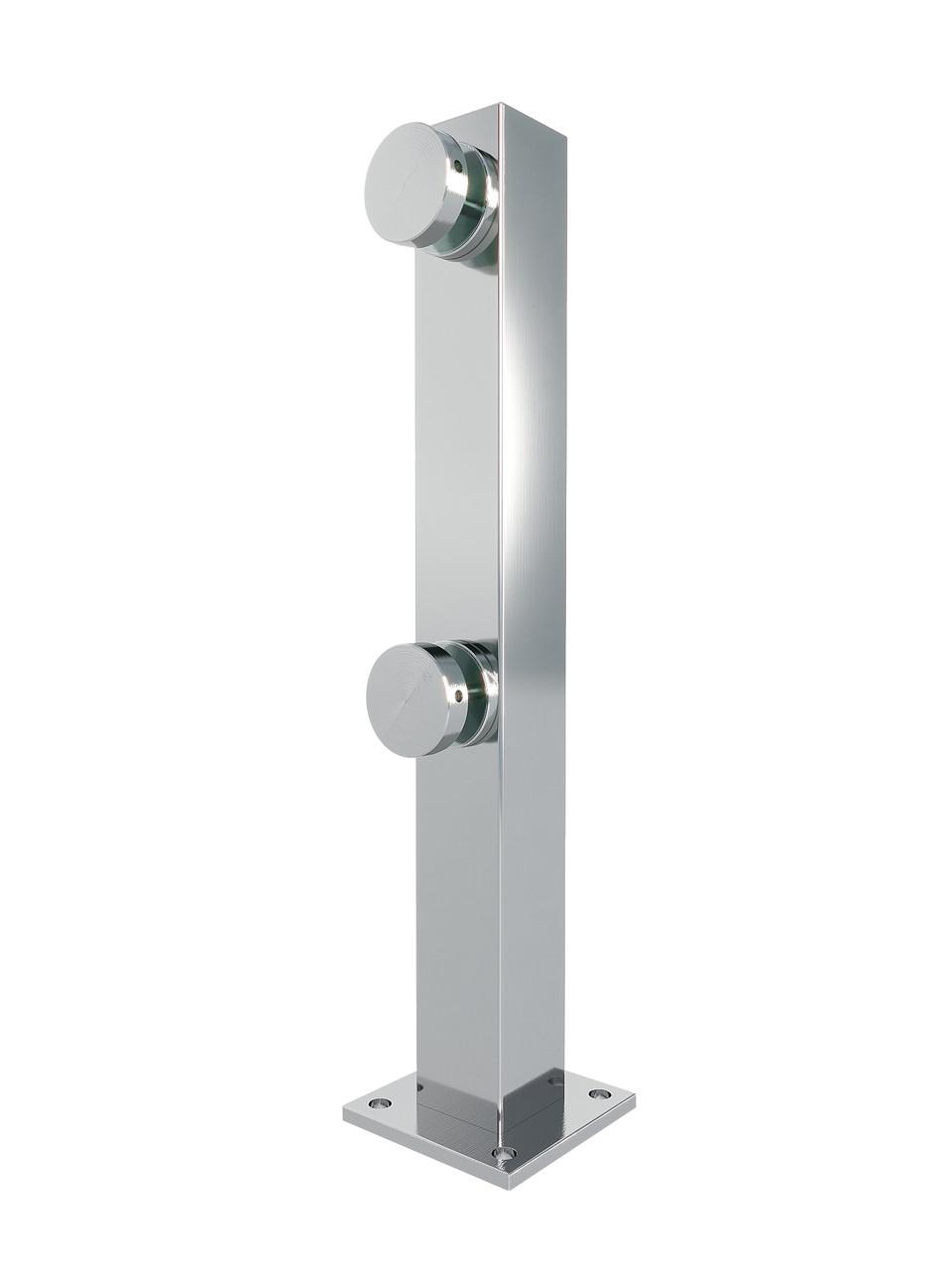 ODF-02-23-02-H360 Стойка для стекла из нержавейки с круглыми коннекторами, полированная