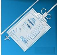 Мочеприемник прикроватный со сливом Люкс стерильный, 2000 мл, длина трубки 90 см. Apexmed (Голландия)