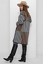 Женский вязаный стильный черный кардиган без застежки удлиненный 44-50, фото 3