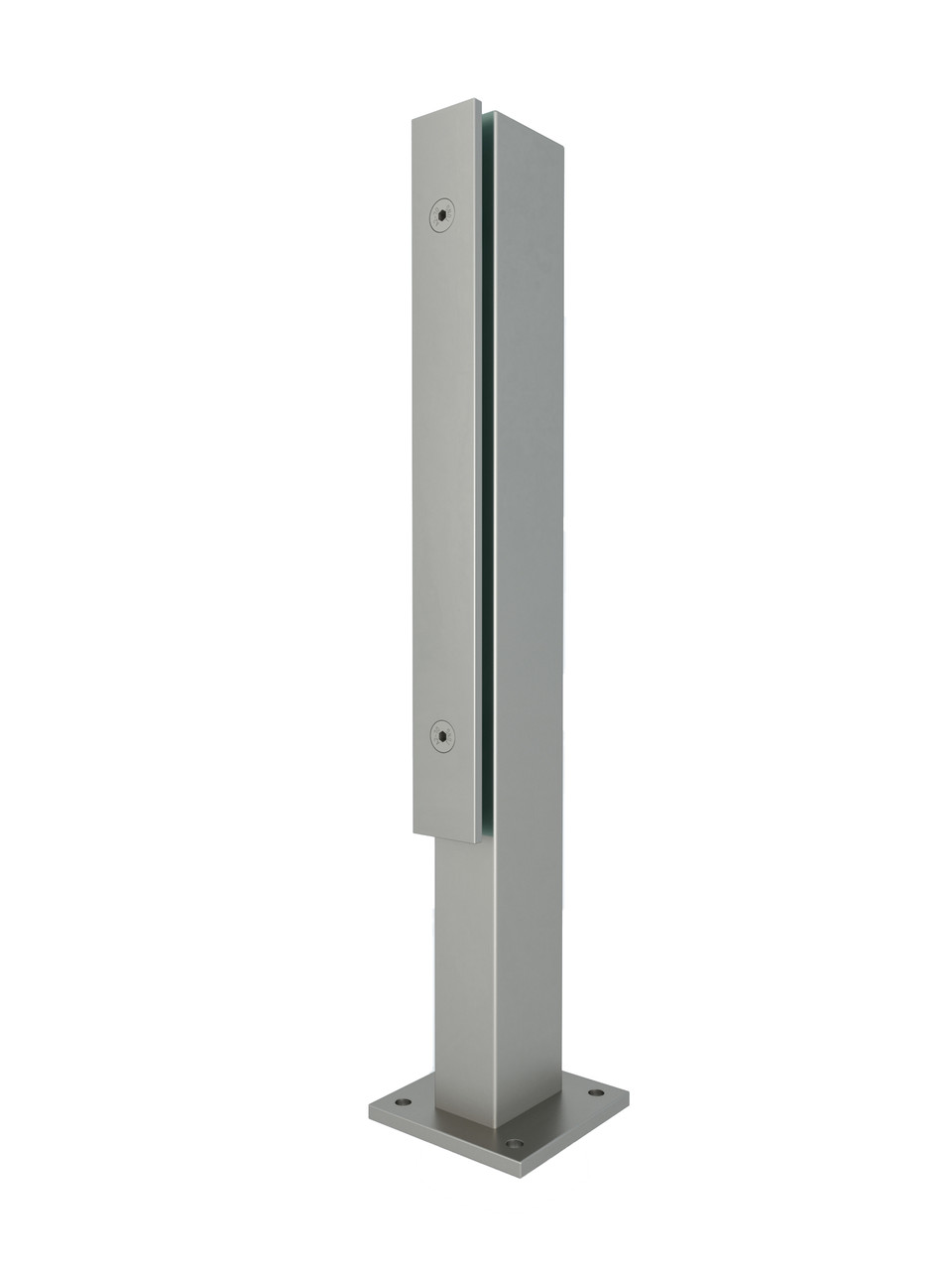 ODF-02-25-01-H500 Стійка для скла 500*40*60 з нержавійки з притискною пластиною для кріплення огорож