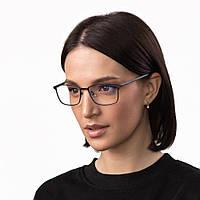 Очки компьютерные IQ Vision PRO женские в стильной и легкой оправе серые (2021)