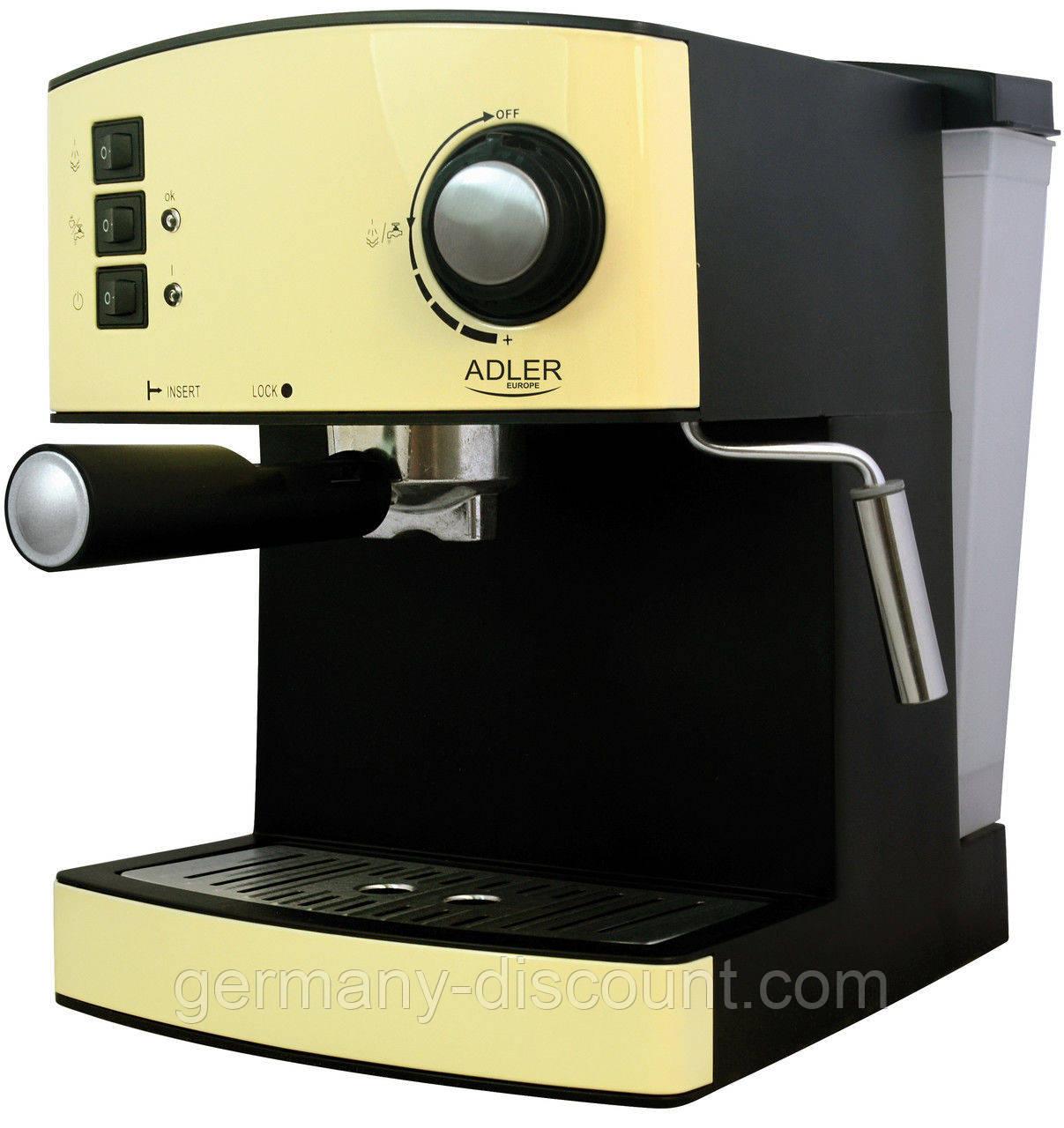 ADLER-Эспрессо кофеварка (Германия)