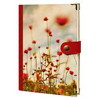 Ежедневник на кнопке Красное цветение