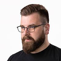 Очки компьютерные IQ Vision PRO мужские в стильной и легкой оправе чёрные (2021)