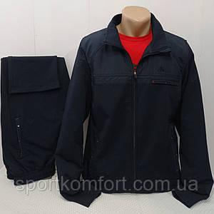 Турецький спортивний костюм Soccer двунітка темно-синій бавовна 70 брюки прямі кишені на блискавці розмір хл 2хл