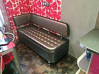 Кухонный диван «Т5 R» с бок. спинкой и утяжкой