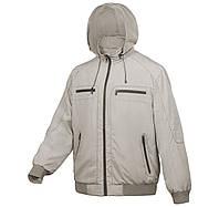 Ветровка мужская куртка батал с капюшоном бежевая City Classic размер 66