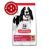 Hills SP Adult Medium Lamb & Ric 14кг корм для собак средних пород с ягненком