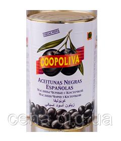 """Маслины """"Coopoliva"""" черные с косточкой  4300 мл"""