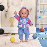 Набор одежды для куклы BABY BORN - СПОРТИВНЫЙ КОСТЮМ ДЛЯ БЕГА (на 43 cm, голубой)