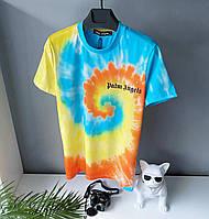 """Яскрава молодіжна бавовняна футболка Palm Angels """"Кольоровий вибух"""""""