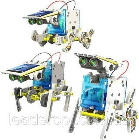 Робот конструктор SOLAR ROBOT 14 в 1 на солнечных батареях с солнечной панелью и моторчиком машинка трансформе