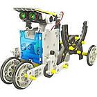Робот конструктор SOLAR ROBOT 14 в 1 на солнечных батареях с солнечной панелью и моторчиком машинка трансформе, фото 3