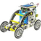 Робот конструктор SOLAR ROBOT 14 в 1 на солнечных батареях с солнечной панелью и моторчиком машинка трансформе, фото 4