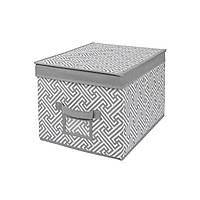 """Короб для хранения """"Graphics"""", 30*40*25 см, серый"""