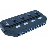 Концентратор MediaRange USB 3.0 hub 1:4, БЖ 5 V