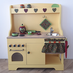 """Детская деревянная кухня """"Желтая"""""""