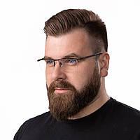 Очки компьютерные IQ Vision ULTRA мужские в полу-оправе чёрные (2021)
