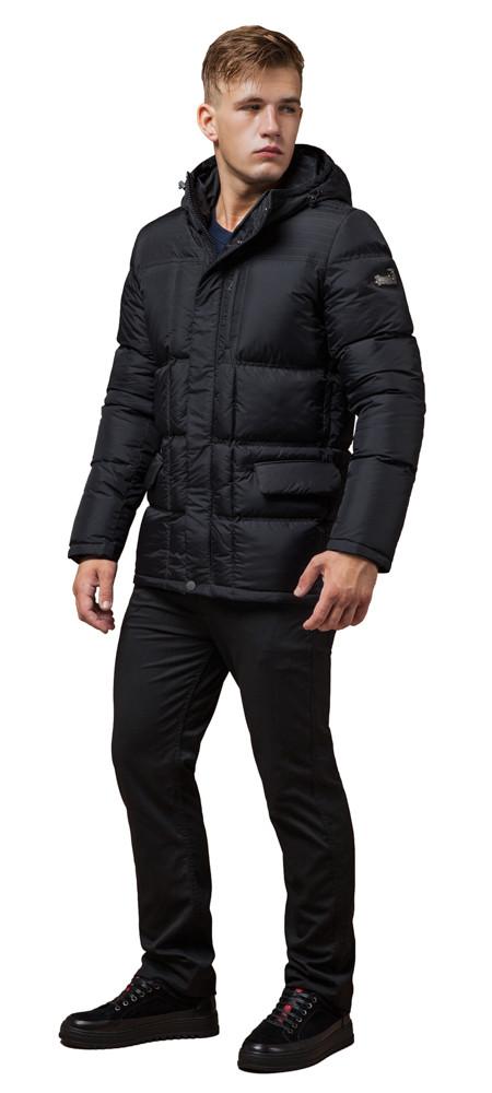 Зимова куртка якісного пошиття чоловіча колір графіт модель 2609 (ЗАЛИШИВСЯ ТІЛЬКИ 46(S))