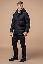 Зимова куртка якісного пошиття чоловіча колір графіт модель 2609 (ЗАЛИШИВСЯ ТІЛЬКИ 46(S)), фото 2