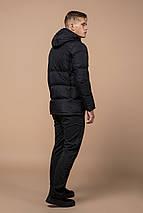Зимова куртка якісного пошиття чоловіча колір графіт модель 2609 (ЗАЛИШИВСЯ ТІЛЬКИ 46(S)), фото 3