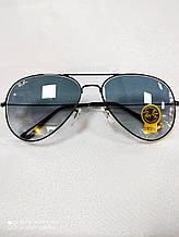Чоловічі сонцезахисні окуляри Ray Ban Aviator RB 3026 Авіатори лінзи скло Брендові Стильні Рей Бан репліка