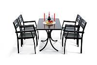 """Комплект меблів для саду """"Стелла"""" стіл (160*80) + 6 стільців Венге, фото 1"""