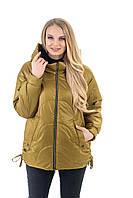 Повседневная удобная женская весенняя куртка размер 46-56, фото 1
