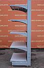 Торговые односторонние (пристенные) стеллажи «Колумб» 200х100 см., (Украина), темно-серый, Б/у, фото 4